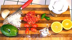 Ingredients for great guacamole