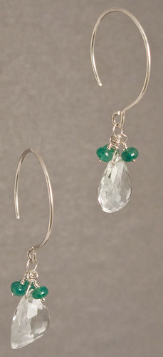Emerald earrings 2