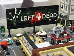 Zombie Apocafest 2008 - Left 4 Dead Billboard from Valve (Dunechaser) Tags: lego zombie events valve displays undead zombies tbb brickcon brickarms thebrothersbrick brothersbrickcom brickcon2008 brickcon08 apocafest