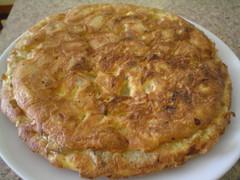 Tortilla española, entera