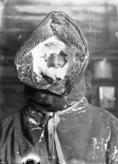 Ice mask, C.T. Madigan, between 1911-1914 / photograph by Frank Hurley (State Library of New South Wales collection) Tags: old blackandwhite bw white snow storm man black hot cold history ice expedition glass face frank nose person frozen stuck bokeh south warmth freezing australia s babe pole negative hood layers icy ernest antartica blizzard shackleton freddo scientists hurley australasian antarctic parka verycold ghiaccio glassnegative frostbite madigan weis seams drawstring protectiveclothing blackandwhitephotograph thespywhocameinfromthecold icemask أنف statelibraryofnewsouthwales 19111914 frankhurley ctmadigan frankhurely cecilthomasmadigan themeteorologist commons:event=commonground2009 ِثلج