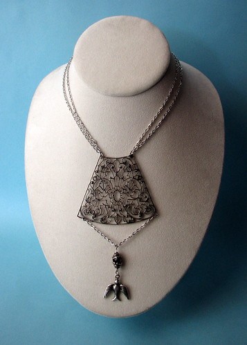 Vintage Upcycled Necklace (by glamourfae)