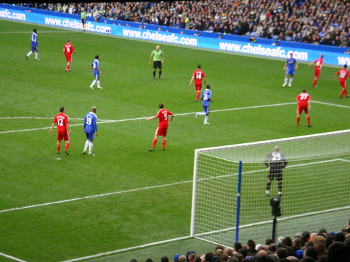 Falta a favor del Chelsea en la primera parte