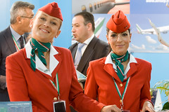 Air Italy crew (Giorgio Montersino) Tags: girls tourism uniform fair rimini crew airline hostess foulard turismo fiera tradefair ttg airitaly tripshake