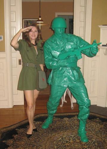 plastic green army man halloween costume