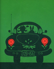 Green Says Go - Car Rear (sarcoptiform) Tags: illustration ed book design graphic childrens emberley