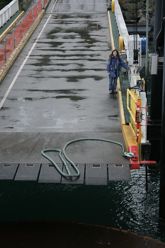 ferry ramp at Lopez Island