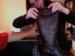 New boots and a boob grab
