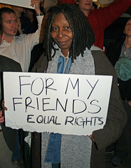 Whoopi Goldberg in New York City Protesting California Proposition 8