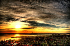 Seattle Skyline - HDR (FarhadFarhad .(Farhad Jahanbani)) Tags: seattle lake skyline canon washington downtown 5d canon5d eastside bellevue hdr theunforgettablepictures theperfectphotographer hdrseattle