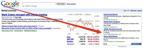 Google Finance With Ads