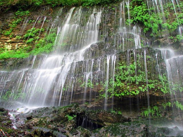 Bonus waterfall at Rock Island