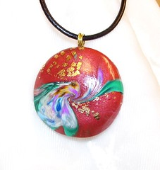 Orchid Explosion Pendant (spiritualityline2004) Tags: green beagle yellow metal vintage beads muse clay geisha bead swirl samurai colgantes turqoise necklaces leafing polymer arcillapolimerica patepolymere jewelrypatepolymerearcillapolimericacolgantesnecklacesyellowgreenturqoisemusevintagesamuraigeishapolymerclaymetalleafingbeagleswirlbeadbeadsleathercord