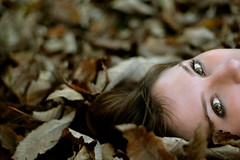Autumn Eyes (AndreaUPl) Tags: autumn portrait brown beauty eyes pretty dof andrea dream occhi fantasy leves autunno pedretti giuditta brusadelli