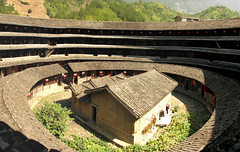 Inside a Tulou ( Slices of Light   ) Tags: world china panorama building heritage architecture canon unesco  hakka soe stitched fukien   30d chuxi earthen trekker tulou    yongding 5photosaday