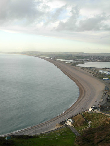 Chesil beach, from above