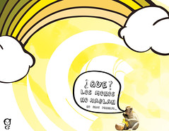 amarillo (Gabriela Castaeda) Tags: yellow clouds monkey rainbow spanish tonalidades