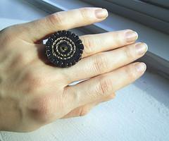 black felt ring