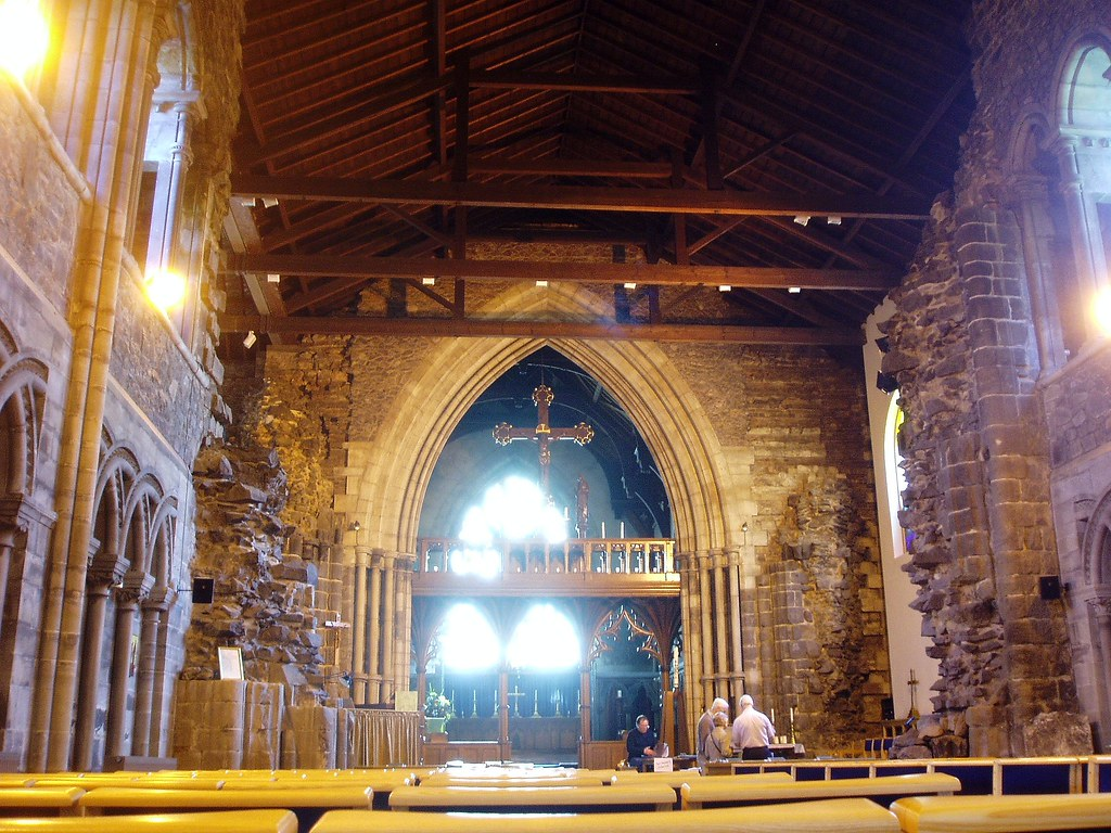 Interior looking east, Nuneaton Abbey