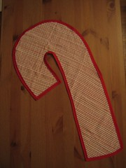 burp cloth candy cane
