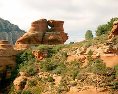 Rock formation - Munds Wagon Trail - Sedona Arizona (Al_HikesAZ) Tags: arizona southwest rock arch hiking country sedona formation redrock coconinonationalforest schneblyhill redrocksecretmountainwilderness mundswagontrail azhike alhikesaz
