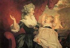 Georgiana y su madre retratadas por sir Joshua Reynolds