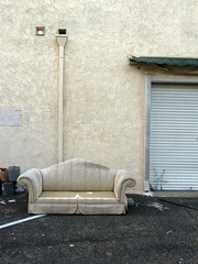 SOFA FREE (TRUE 2 DEATH) Tags: abandoned beige furniture monotone couch sofa sofafree midwaycity