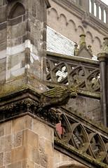 Xanten, Dom St. Victor, gargoyle (groenling) Tags: monster stone cathedral dom carving gargoyle nrw stein rheinland xanten stiftskirche wasserspeier ungeheuer victordom domstvictor