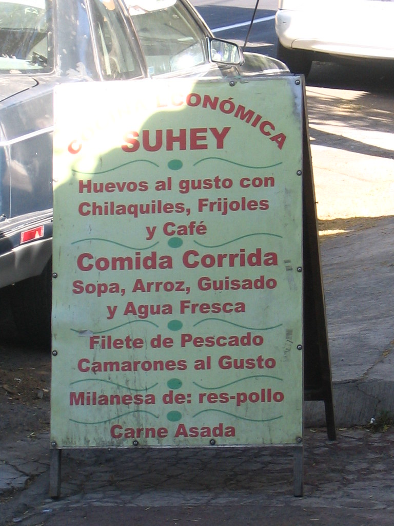 cheap eats tags sign canon menu poster geotagged mexico restaurant comida guadalajara