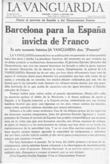 La Vanguardia. Edición del 27 de Enero de 1939