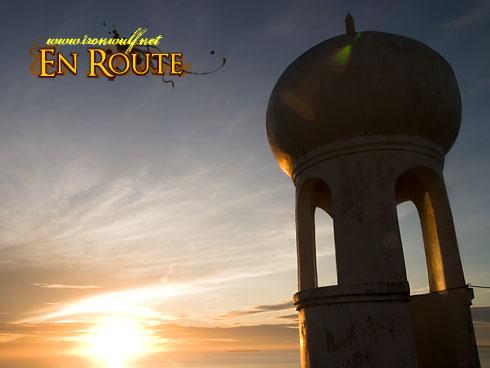 Bongao Sunrise minaret sikhouette