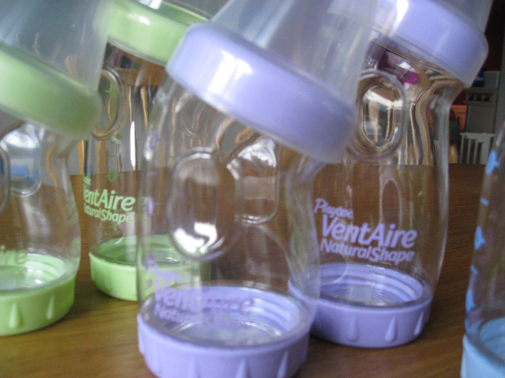 Set of Playtex VentAire Bottles and Nipples - Like New - $5