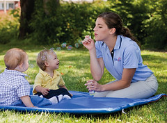 Infants & Teacher with Bubbles C