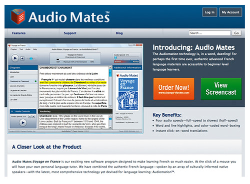 Audio Mates: Voyage en France - Website Screenshot