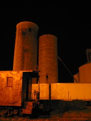 Heyworth IL (Ronald (Ron) Douglas Frazier) Tags: county nightphotography field rural photography illinois corn midwest farm farming elevator grain harvest silo combine ag normal prairie soybean bloomington agriculture railyard heyworth mclean agribusiness graintruck