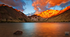 Convict Gold - Convict Lake, Eastern Sierra Nevada, California (david.richter) Tags: california ca longexposure morning pink blue light red usa mountain lake storm nature water clouds sunrise canon landscape outdoors eos rebel gold dawn rocks raw glow hiking unitedstatesofamerica naturallight norcal sierranevada alpenglow circularpolarizer 395 easternsierra convictlake mountlaurel johnmuirwilderness inyonationalforest gnd monocounty singleexposure ishootraw nohdr davidrichter singhray 450d gradualneutraldensityfilter rebelxsi tokina1116mmf28atx116prodx apertureacademy wwwdavidrichterphotographycom