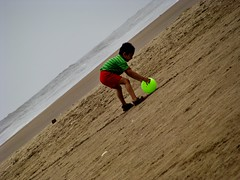 A PLAYFUL BEACH..... (piyush.s) Tags: sea india nature ball kid child play happiness quite mumbai soothing aksabeach mumbaibeach