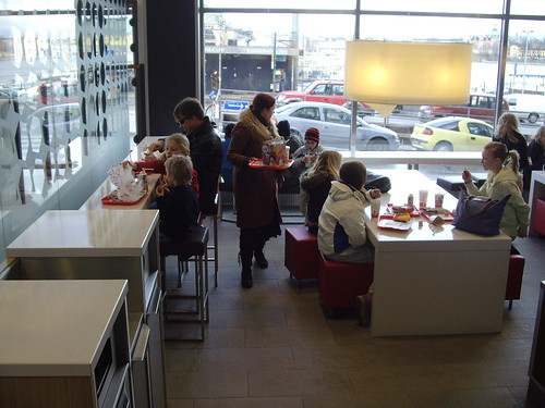 McDonalds in the Stockholm Slussen - Interior