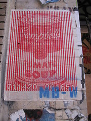 MB-W (Becki_Fuller) Tags: street nyc streetart newyork photography soup graffiti wheatpaste warhol campbells tomatosoup mbw candyfactory