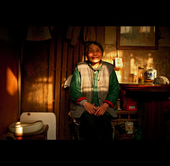 light moments. (chris spira) Tags: china old portrait people woman home beautiful smile living town shanghai sweet interior chinese documentary lifestyle series simple authentic conditions nongtang
