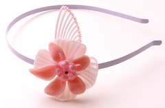 Pink and Purple Vintage Flowers Headband