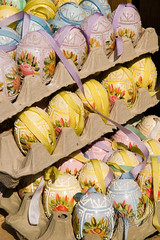 Easter eggs at the Freyung market in Vienna (innamoo) Tags: vienna easter austria westerneurope eastereggs paintedeggs eastermarket freyungmarkt