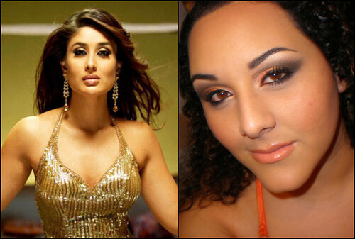 Kareena Kapoor look-a-like? For a team makeup challenge our oponnent had to