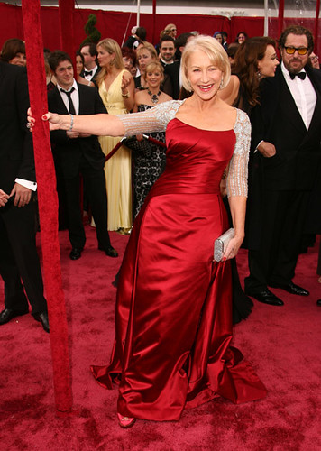 Helen Mirren at the 80th Annual Academy Awards