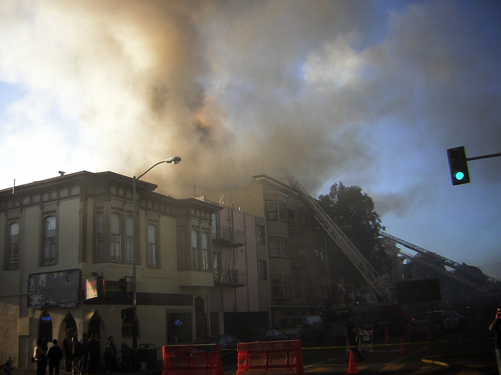 the irish Pub two doors down from the fire remained open for business and it was slamming