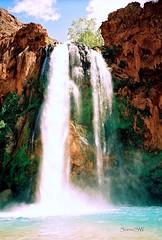 Havasu Falls (ScenicSW) Tags: arizona waterfalls havasupai beginnerdigitalphotographychallengewinner scenicsw southwesternimages hasvasufalls rainbowelite