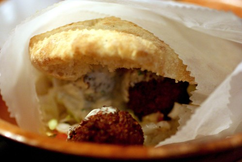Harissa Falafel Sandwich