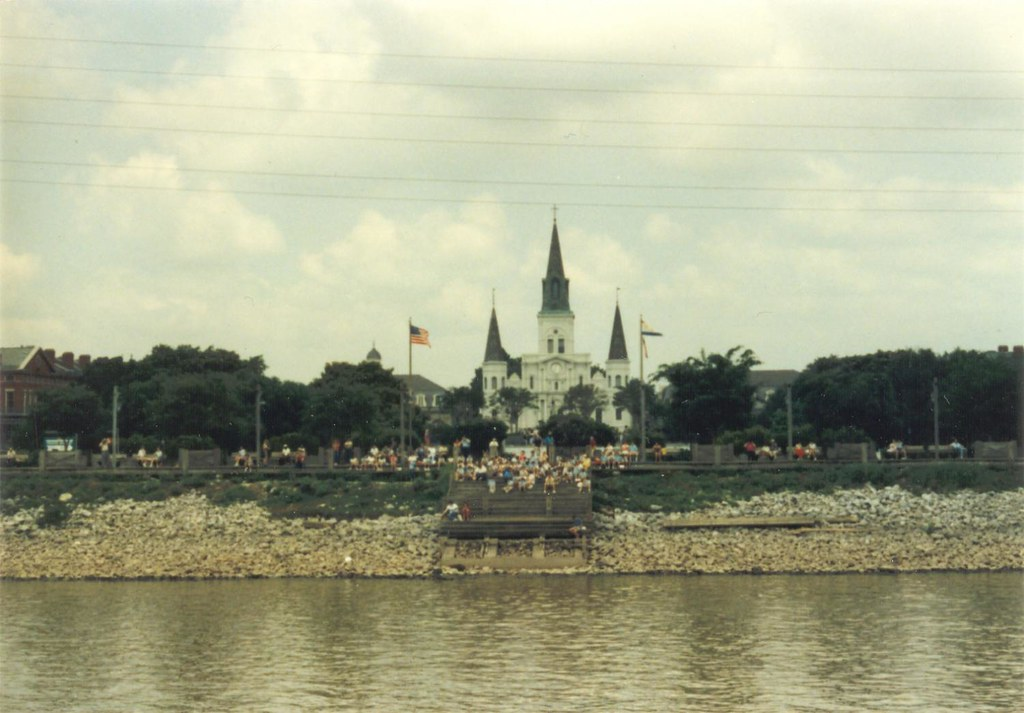 St. Louis Cathedal, New Orleans -- from the Mississippi River, 1988