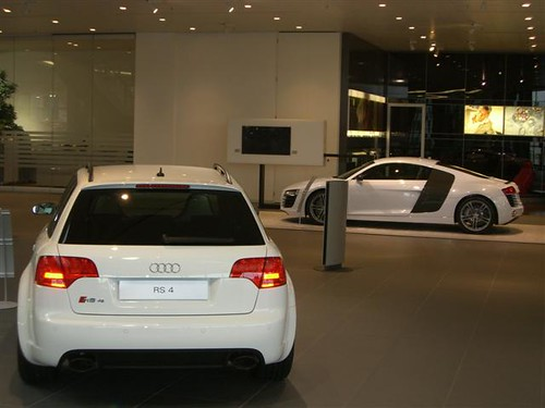 Audi Rs4 Avant 2011. White Audi RS4 Avant and Audi