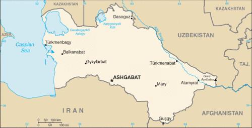 carte turkménistan